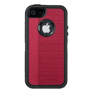 Pomegranate Bamboo Border Wood Grain Look OtterBox iPhone 5/5s/SE Case