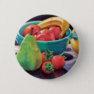 Pomegranate Banana Berry Pear Reflection 2 Inch Round Button