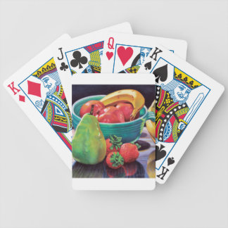Pomegranate Banana Berry Pear Reflection Bicycle Playing Cards