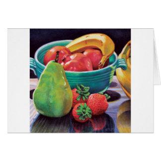 Pomegranate Banana Berry Pear Reflection Card