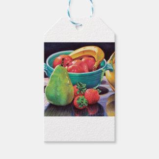Pomegranate Banana Berry Pear Reflection Gift Tags