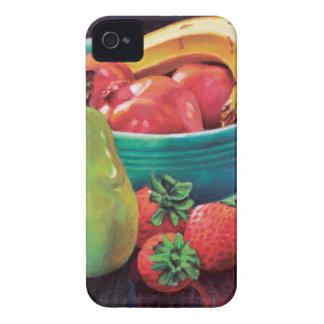 Pomegranate Banana Berry Pear Reflection iPhone 4 Case-Mate Case