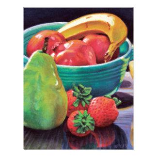 Pomegranate Banana Berry Pear Reflection Letterhead