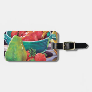 Pomegranate Banana Berry Pear Reflection Luggage Tag