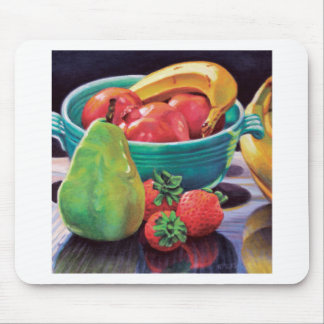Pomegranate Banana Berry Pear Reflection Mouse Pad