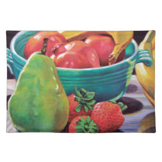 Pomegranate Banana Berry Pear Reflection Placemat