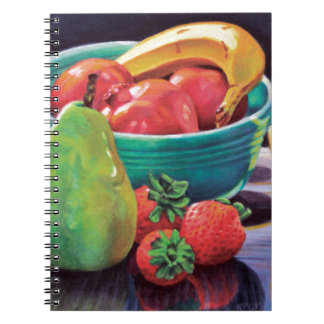 Pomegranate Banana Berry Pear Reflection Spiral Notebook