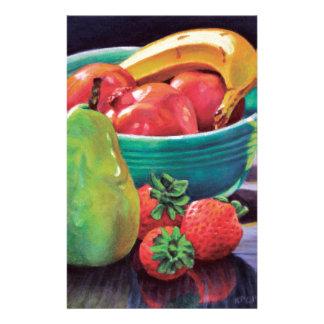 Pomegranate Banana Berry Pear Reflection Stationery