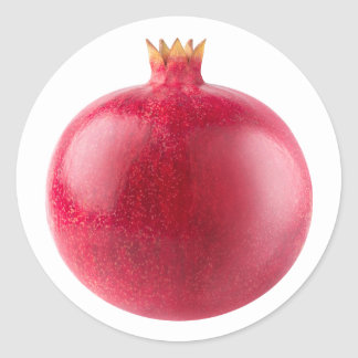 Pomegranate Classic Round Sticker