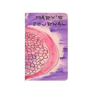 Pomegranate color splash journal/travel notebook