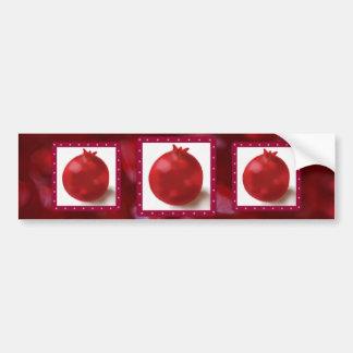 Pomegranate Cute Red drawing Bumper Sticker