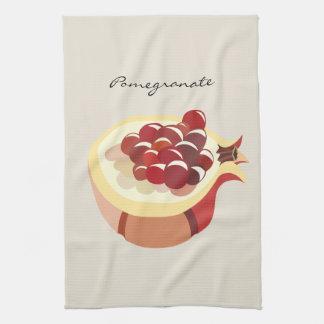 Pomegranate fruit illustration hand towels