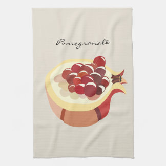 Pomegranate fruit illustration kitchen towel
