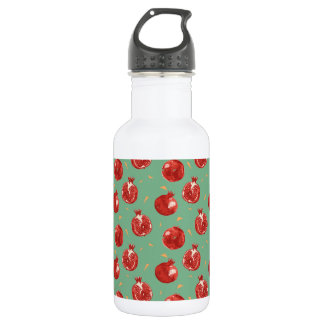 Pomegranate Fruit Vector Seamless Pattern 532 Ml Water Bottle