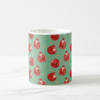 Pomegranate Fruit Vector Seamless Pattern Coffee Mug