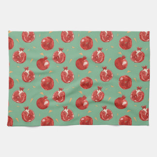 Pomegranate Fruit Vector Seamless Pattern Kitchen Towel