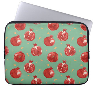 Pomegranate Fruit Vector Seamless Pattern Laptop Sleeve