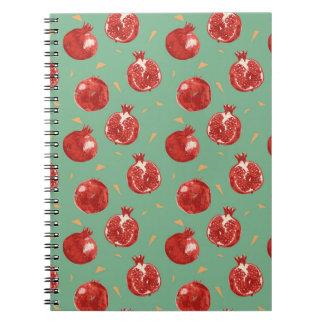 Pomegranate Fruit Vector Seamless Pattern Notebooks
