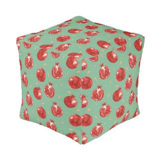 Pomegranate Fruit Vector Seamless Pattern Pouf