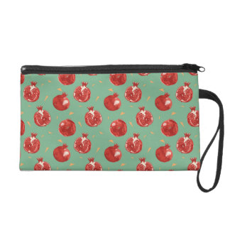 Pomegranate Fruit Vector Seamless Pattern Wristlet