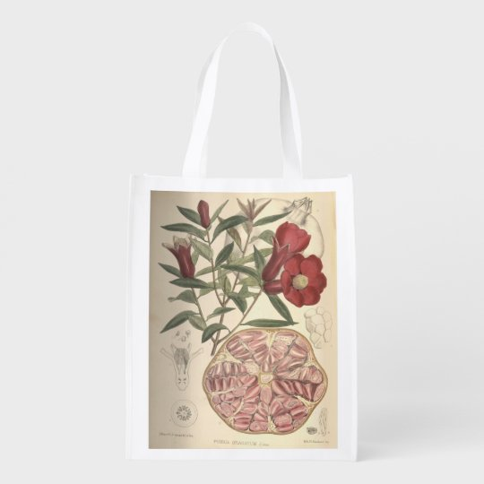Pomegranate Grocery Bags