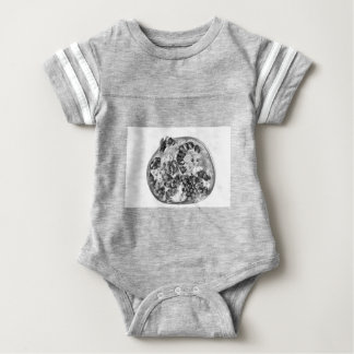 Pomegranate in Black and White Baby Bodysuit