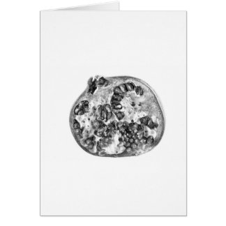 Pomegranate in Black and White Card