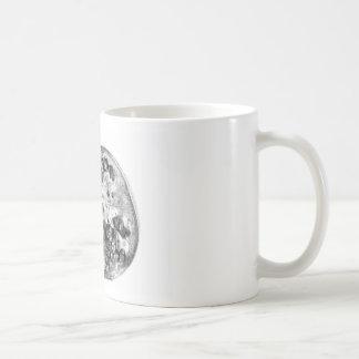 Pomegranate in Black and White Coffee Mug