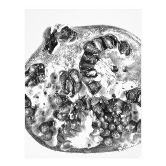 Pomegranate in Black and White Letterhead