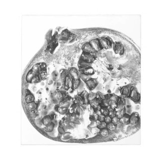 Pomegranate in Black and White Notepad