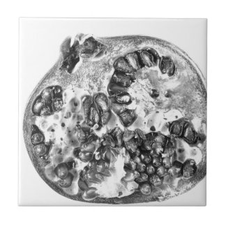 Pomegranate in Black and White Tile