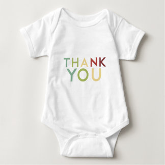 Pomegranate Ink - Multi Color Thank You Baby Bodysuit
