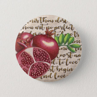 Pomegranate Love Once Again 2 Inch Round Button