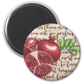 Pomegranate Love Once Again 2 Inch Round Magnet
