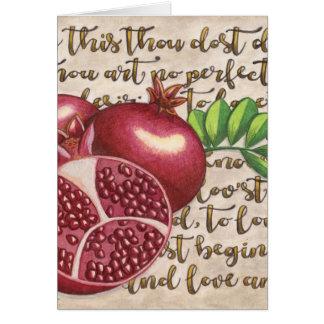 Pomegranate Love Once Again Card