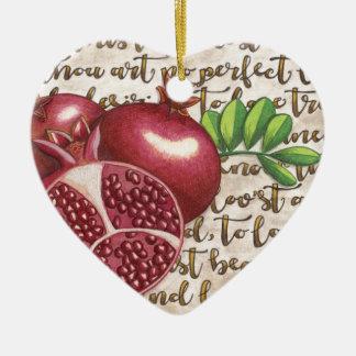 Pomegranate Love Once Again Ceramic Ornament