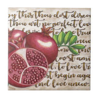 Pomegranate Love Once Again Ceramic Tile