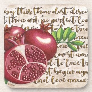 Pomegranate Love Once Again Coasters