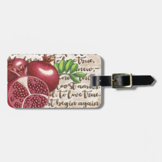 Pomegranate Love Once Again Luggage Tag