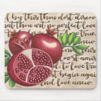 Pomegranate Love Once Again Mouse Pad