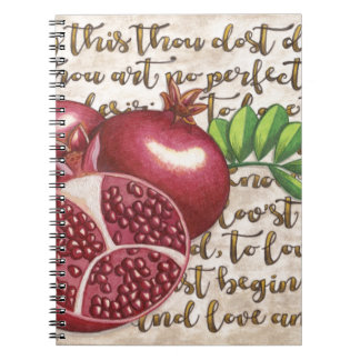 Pomegranate Love Once Again Notebook