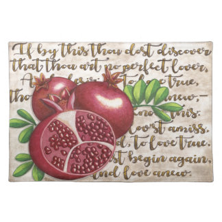 Pomegranate Love Once Again Placemat