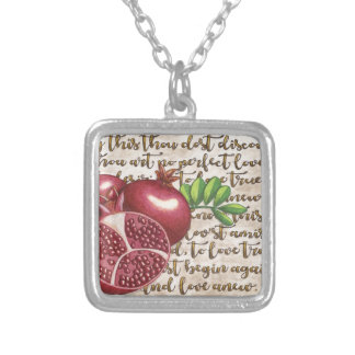 Pomegranate Love Once Again Silver Plated Necklace