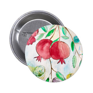 Pomegranate painting pomegranate art Wall art 2 Inch Round Button
