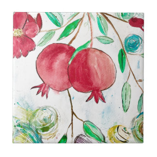 Pomegranate painting pomegranate art Wall art Tile