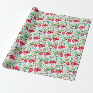 Pomegranate painting pomegranate art Wall art Wrapping Paper