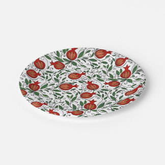 Pomegranate Paper Plates 7 Inch Paper Plate
