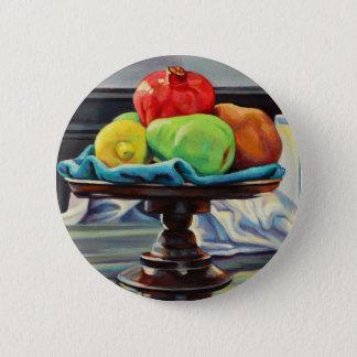 Pomegranate Pear Lemon Pedestal 2 Inch Round Button
