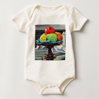 Pomegranate Pear Lemon Pedestal Baby Bodysuit