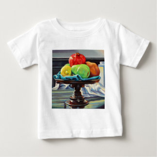 Pomegranate Pear Lemon Pedestal Baby T-Shirt
